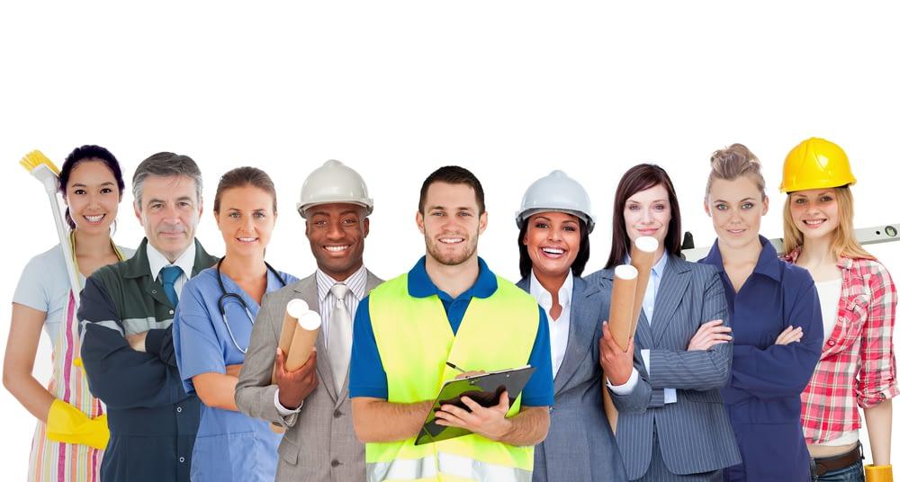 employees wearing uniform